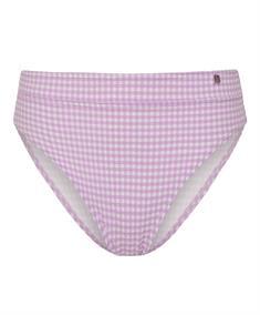 Beachlife High Waist Bikinibroekje Lilac Check