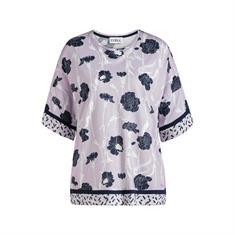 Cyell Pyjamatop Allover Print Lila