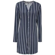 Esprit Nachthemd Carsta Gestreept Donkerblauw