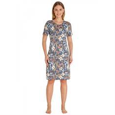 HAJO Nachthemd Bloemenprint Donkerblauw