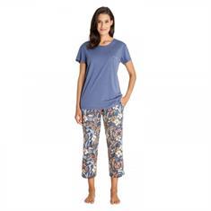 HAJO Pyjama Set Bloemenprint Blauw