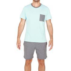 HOM Pyjama Set Short Captain grijs/Lichtblauw