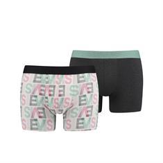 Levi's Shorts Logo Allover Print 2-Pack Roze