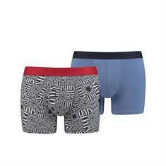 Levi's Shorts Tall Logo Allover Print Donkerblauw