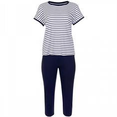 Lisca Pyjama Francis Blauw Wit