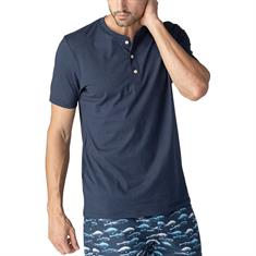 Mey T-shirt Club Coll. Henley Donkerblauw
