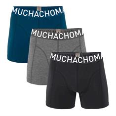 Muchachomalo Shorts Effen 3-pack Zwart/Grijs/Blauw