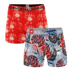 Muchachomalo Shorts Flower Power 2-pack Oranje