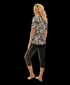 Nina Von C Pyjamabroek Capri Sporty Stripes