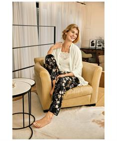 Nina Von C Pyjamabroek Lang Floral Print