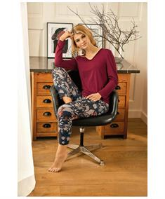 Nina Von C Pyjamashirt Lange Mouw Effen