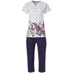 Pastunette Pyjama Capri Bloemenprint Donkerblauw
