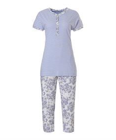 Pastunette Pyjama Capri Stripes & Paisley Dreams
