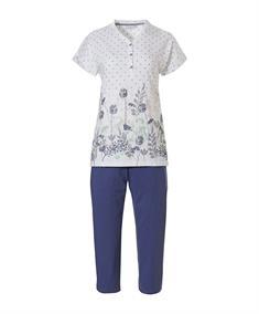 Pastunette Pyjama Set Capri Floral/Stippen