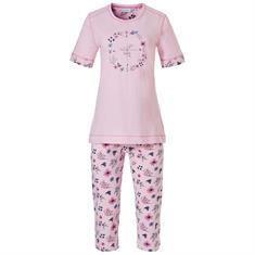 Pastunette Pyjama Set Capri Print Roze