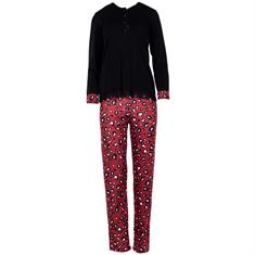 Pink Label Pyjama Set Red Leopard