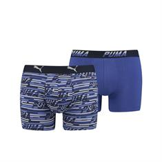 PUMA Shorts Logo Allover Print 2-pack Blauw