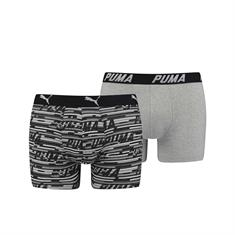 PUMA Shorts Logo Allover Print 2-pack Zwart