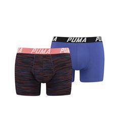 PUMA Shorts Spacedye Stripe 2-pack Blauw/Oranje