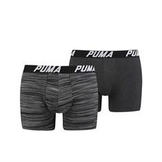 PUMA Shorts Spacedye Stripe 2-pack Zwart