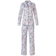 Pyjama Set Bloemenprint Lichtblauw