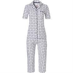 Rebelle Pyjama Set Capri Print Donkerblauw