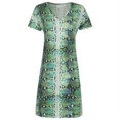 Ringella Nachthemd Slangendessin Groen