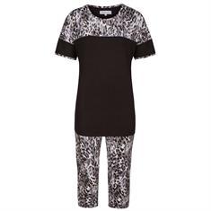 Ringella Pyjama Set Capri Animal Print Zwart