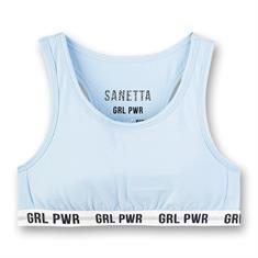 Sanetta Bustier Athleisure Lichtblauw
