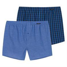 Schiesser Boxershorts City Life 2-Pack Blauw