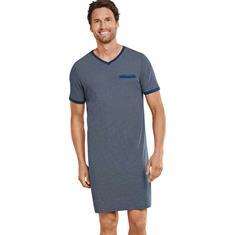 Schiesser Nachthemd Selected Premium Blauw