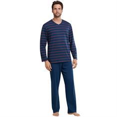 Schiesser Pyjama Selected Premium Blauw
