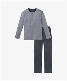 Schiesser Pyjama Set Lang Ebony