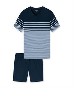Schiesser Pyjama V-Hals Gestreept