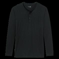 Schiesser Pyjamashirt Mix + Relax Zwart