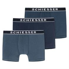 Schiesser Short 95/5 3-Pack Blauw
