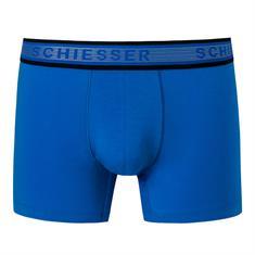 Schiesser Short Lang Selected! Premium Blauw