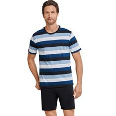 Schiesser Shortama Single Jersey Blauw