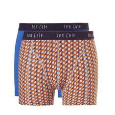 ten Cate Boxershorts Fine 2-pack Oranje/Blauw