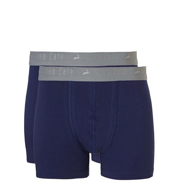 ten Cate Shorts Boys Basic 2-Pack Donkerblauw
