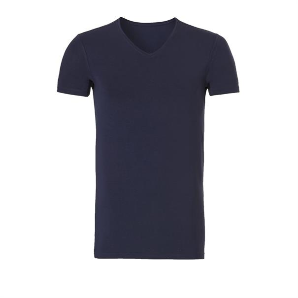 ten Cate T-shirt Bamboo V-neck Basic Donkerblauw