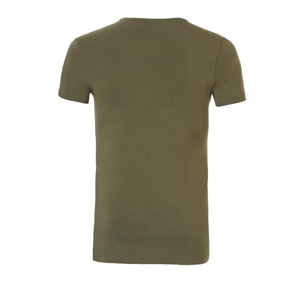 ten Cate T-shirt Bamboo V-neck Basic Groen