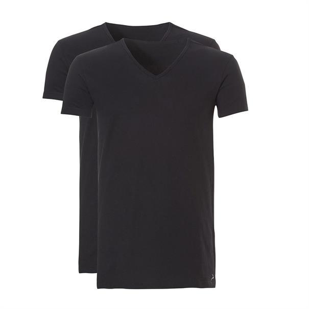 ten Cate T-shirt Basic 2-Pack Zwart