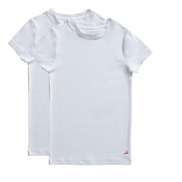 ten Cate T-shirt Boys Basic 2-Pack Wit