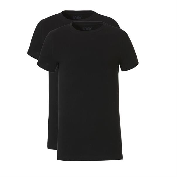 ten Cate T-shirt Boys Basic 2-Pack Zwart