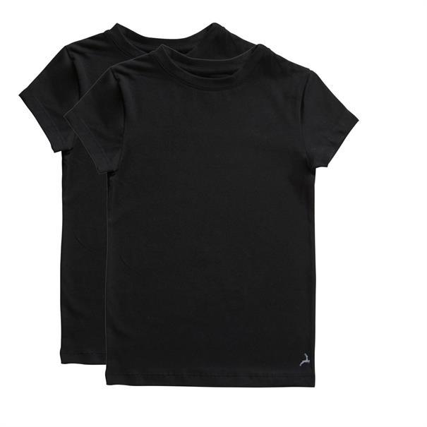 ten Cate T-shirt Boys Basic 2-Pack Zwart