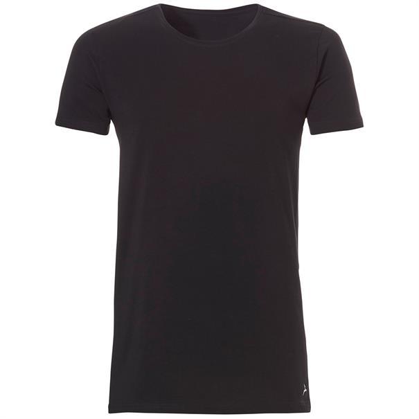 ten Cate T-Shirt Long O-Neck 2-pack Zwart